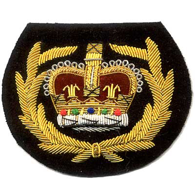 Embroidered Bullion Patches, Shields and Crests