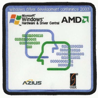 Windows Driver Development Conference 2003 Patch