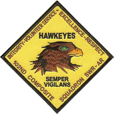 Hawkeyes 102nd Composite Sq. Civil Air Patrol Patch
