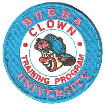 Bubba University Clown Training Program Patch