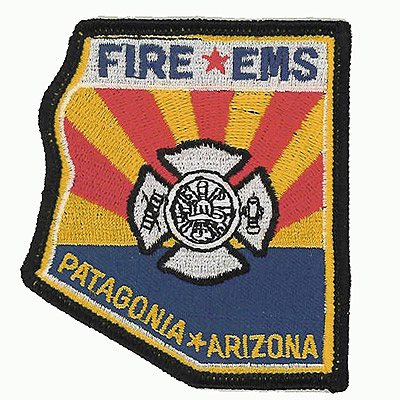 Embroidered Fire EMS Patches