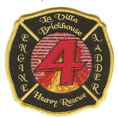 La Villa Brickhouse Fire Department Patch