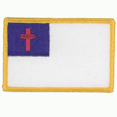 White and Yellow Flag Patch