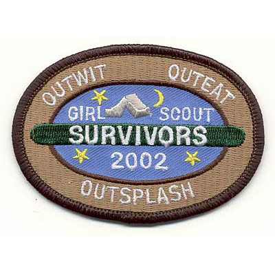 Embroidered Girl Service Troop Patches