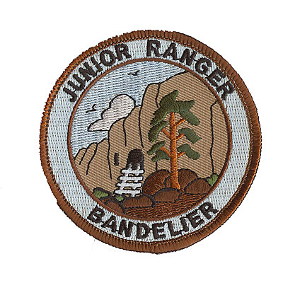 Brown and Gray Junior Ranger Bandelier Patch