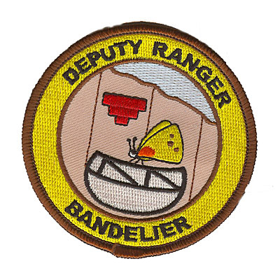 Brown and Yellow Junior Ranger Bandelier Patch