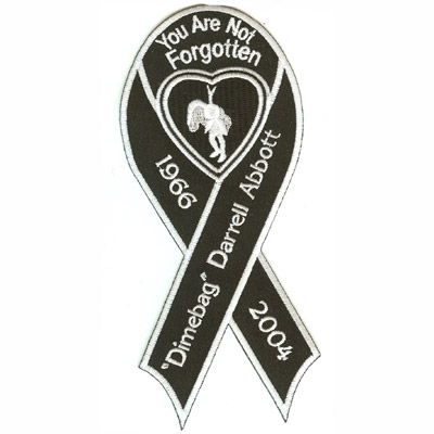 Memorial Black Ribbon Patch