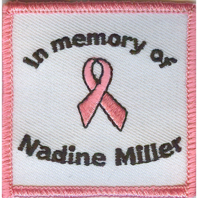 Memorial Pink Ribbon Patch