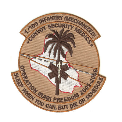 109 Infantry Desert Patch