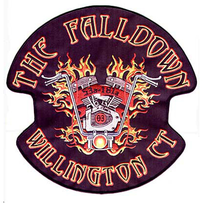 The Falldown Willington CT Motorcycle Club Patch