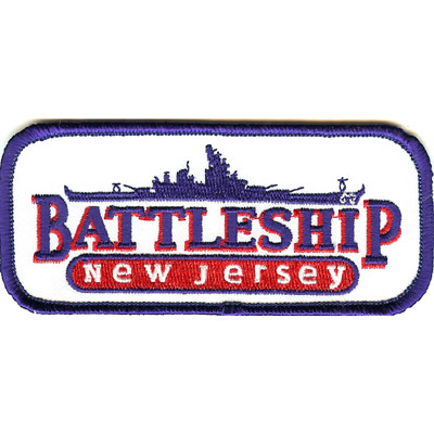 Battleship NJ Logo Patch