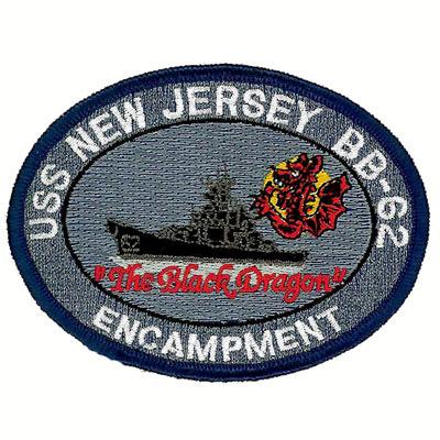 USS New Jersey BB-62 Encampment Patch