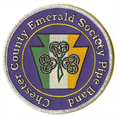 Chester County Emerald Society Pipe Band Patch