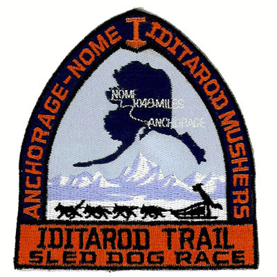 Iditarod Trail Sled Dog Race Patch