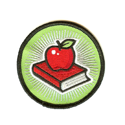 Apple Schoolbook Patch