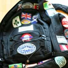 Badges on Backpack