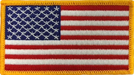 American Flag Patch - Left Field Gold