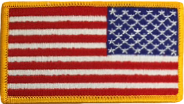 American Flag Patch - Right Field Gold