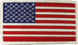 American Flag Patch - Right Field White