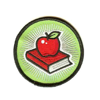 Apple School Book Patch