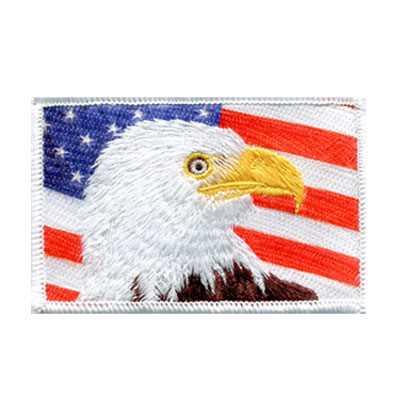 Combination Patch Eagle Flag