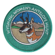 Wyoming Women's Antelope Hunt Patch