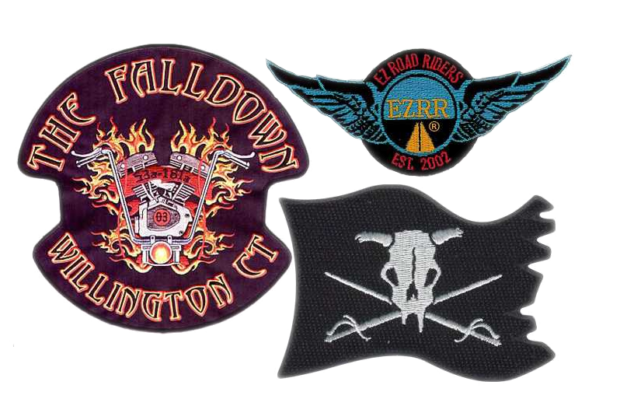 Custom biker vest and jacket patches