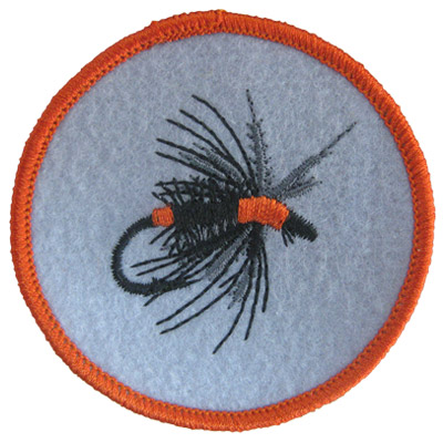 Orange Fly Fishing Lure Patch