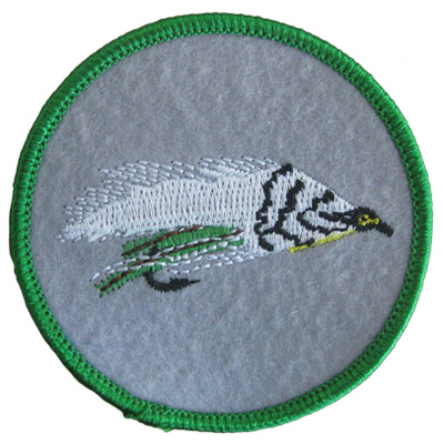 Green Fly Fishing Lure Patch