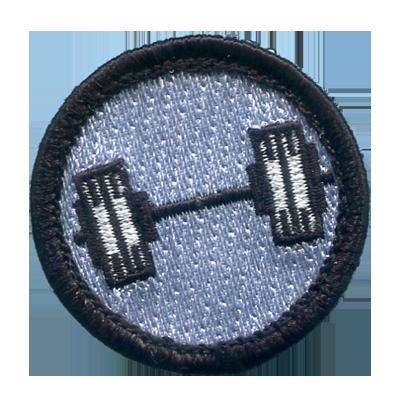 Fitness Merit Badges - Barbell