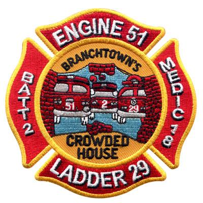 Branchtown Custom Fire Department Patch