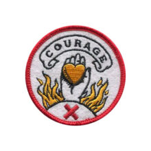 Courage Felt Patch